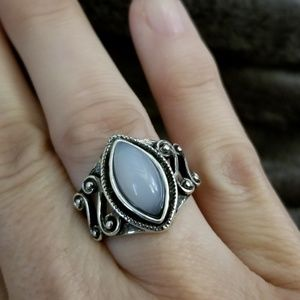 Jewelry - 3/$25 Moonstone in antique scroll silver setting